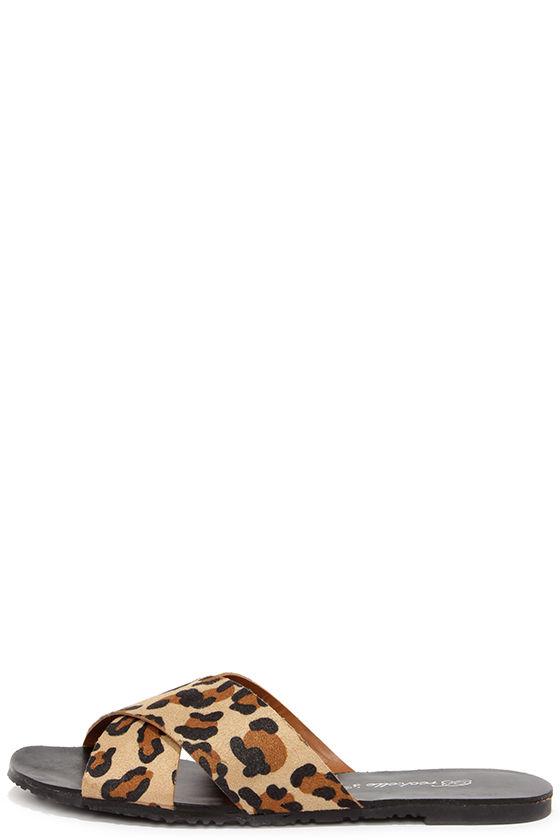 Cute Leopard Sandals - Slide Sandals