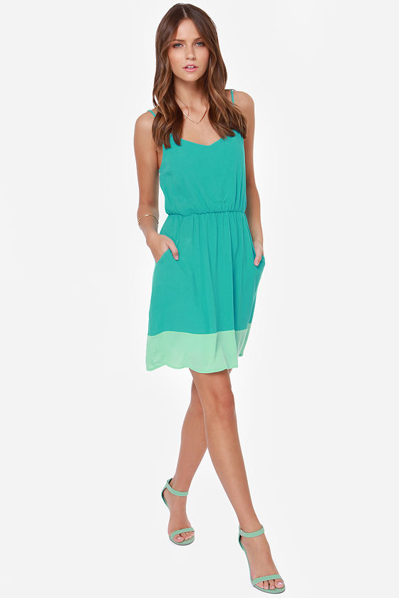Genie Dream Mint and Turquoise Dress at Lulus.com!