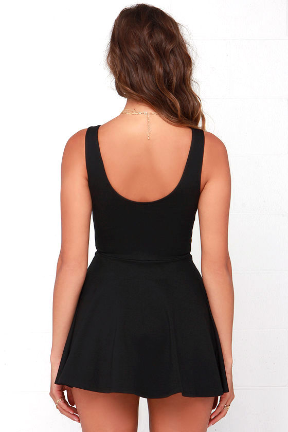 I Feel Good Black Skort Dress 5