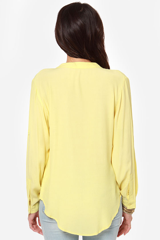 Call It Magic Yellow Top at Lulus.com!