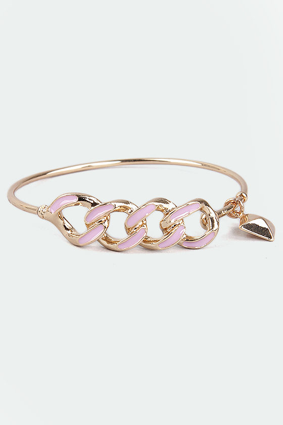 Everything to Chain Pink Bracelet at Lulus.com!