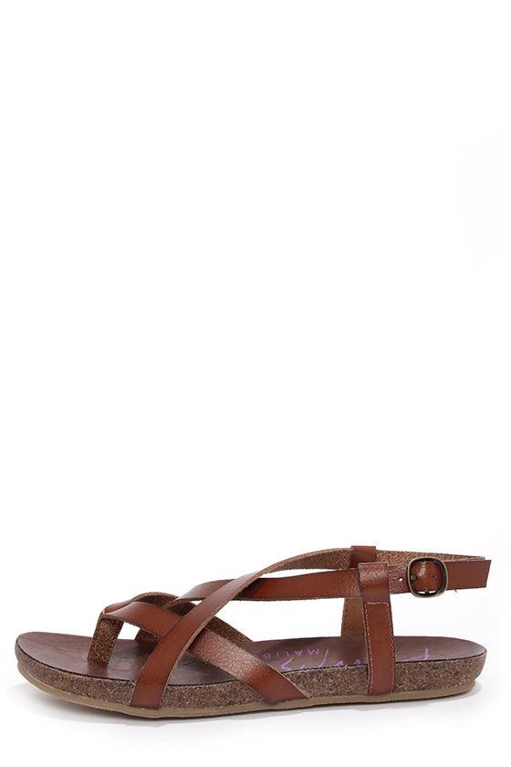 516855de3f00 Cute Brown Sandals - Strappy Sandals -  46.00