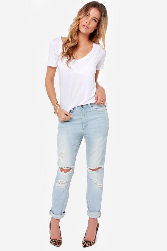 RES Denim Slacker - Boyfriend Jeans - Distressed Denim - $87.00