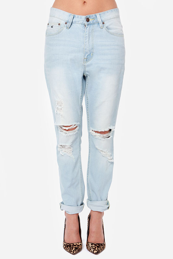 RES Denim Slacker Distressed Boyfriend Jeans at Lulus.com!