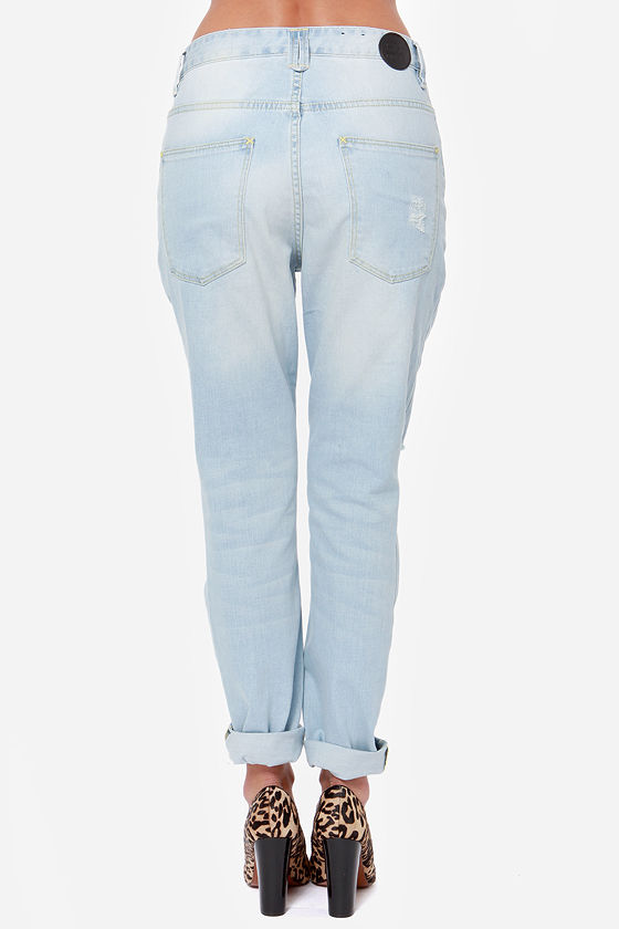 RES Denim Slacker Distressed Boyfriend Jeans at Lulus.com!