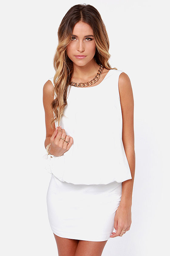 Keep on Dancing Backless Ivory Dress at Lulus.com!