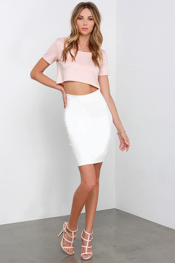 276548a305cb23 Cute Blush Pink Top - Crop Top - Short Sleeve Top - Crop Tee - $24.00
