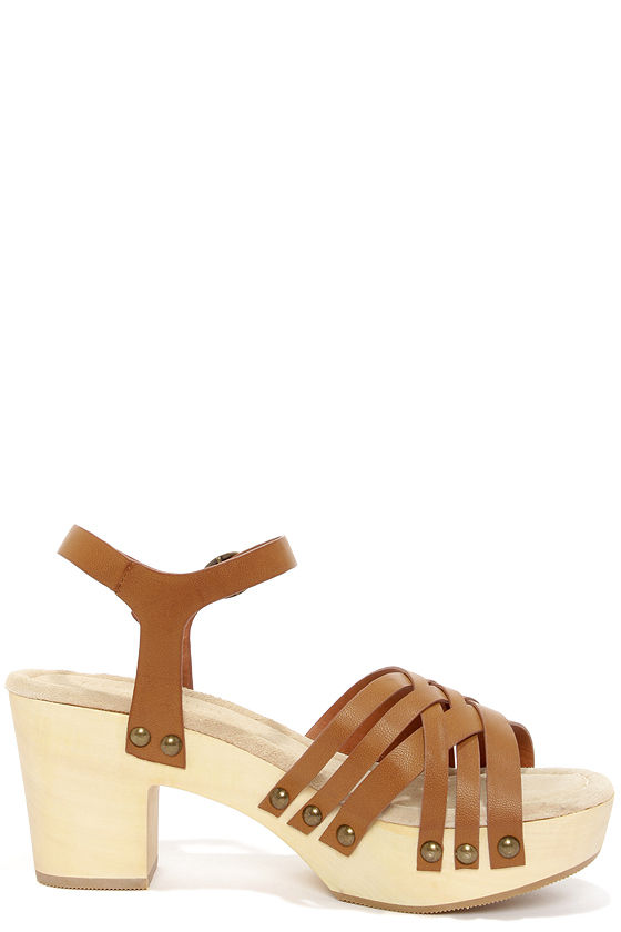 Restricted Cate Tan Strappy Platform Sandals at Lulus.com!