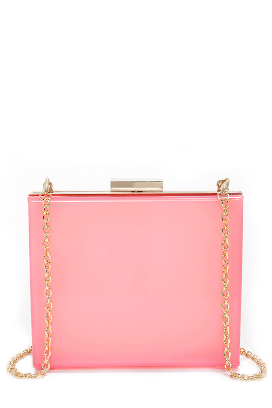 Sheer Joy Pink Lucite Clutch at Lulus.com!