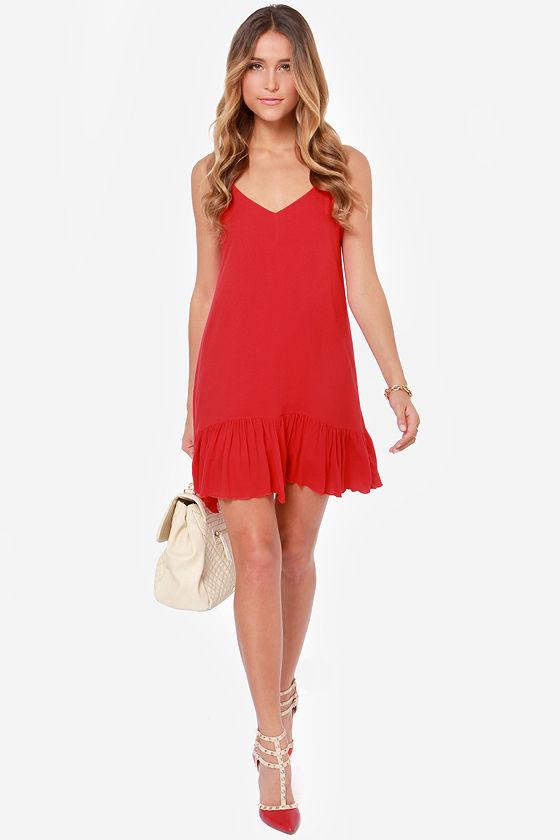 Let It Flow Red Dress at Lulus.com!