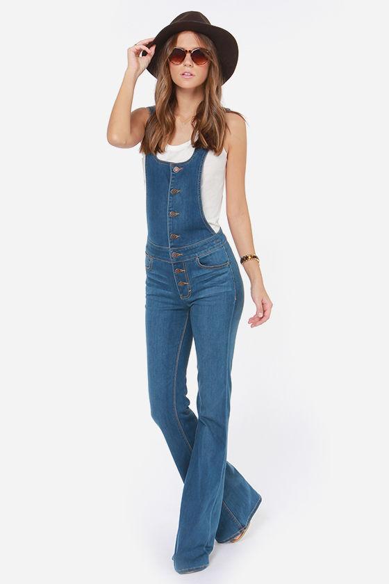 81816622480 Dittos Delilah - Denim Overalls - Flare Jeans -  108.00