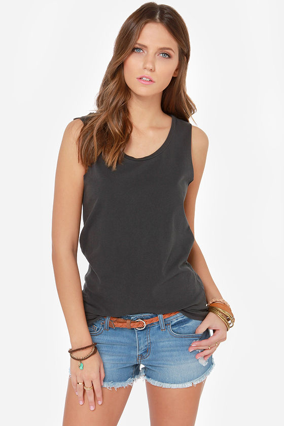 a254c425 RVCA Label Scout Tee - Washed Black Tee - Muscle Tee - $30.00
