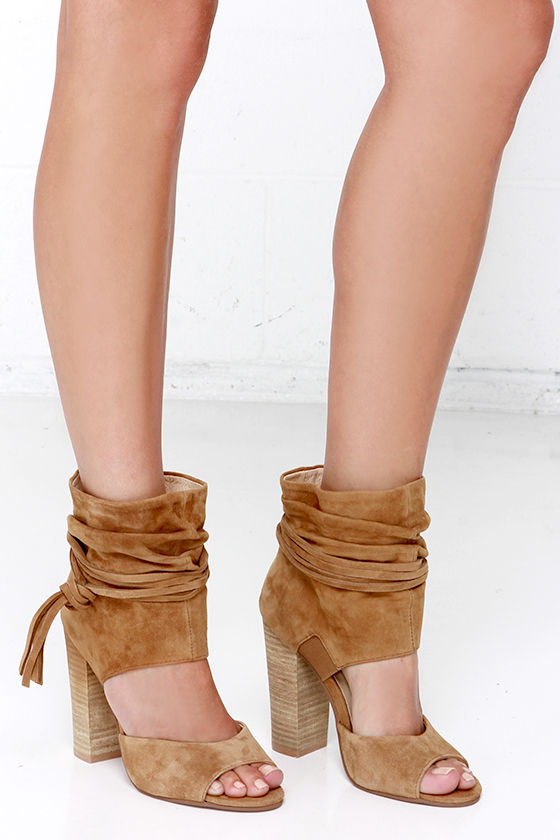 Chinese Laundry Leigh - Kid Suede Booties - Tan Booties -  149.00 485e58f3a