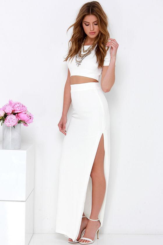39936b9e99 Chic Two-Piece Dress - Ivory Dress - Maxi Dress -  123.00