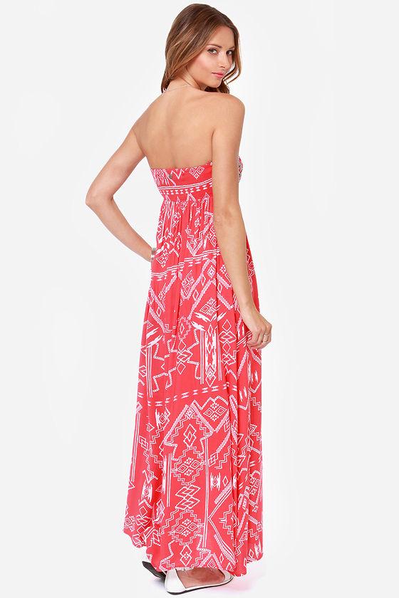 Billabong Dreamed of You Red Print Maxi Dress at Lulus.com!
