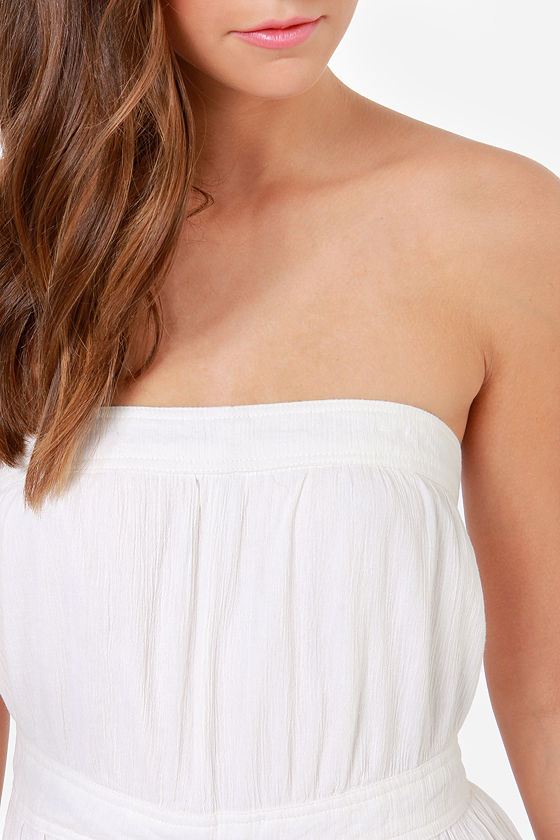 Billabong Endless Beach Strapless Ivory Jumpsuit at Lulus.com!