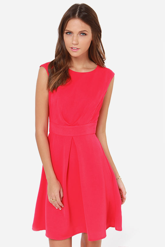 Darling Keeley Hot Pink Dress at Lulus.com!