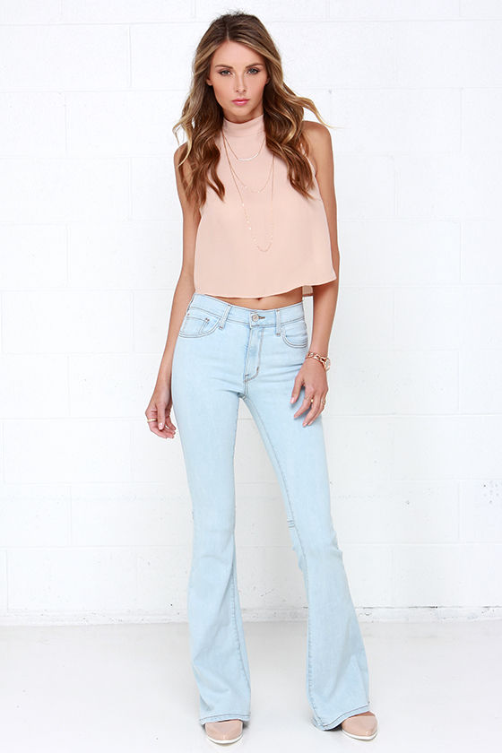 Flare Jeans - Light Wash Jeans - Bell-Bottom Jeans - $78.00