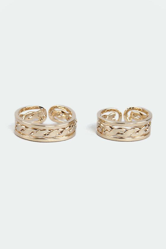 Celtic Hot Gold Ring Set at Lulus.com!