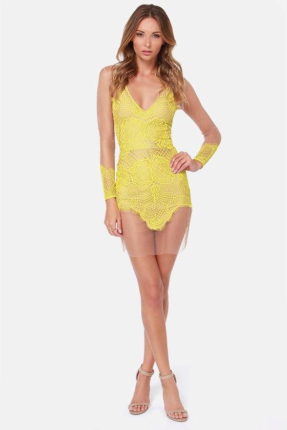 For Love Lemons Antigua Mini Dress Lace Dress 211 00