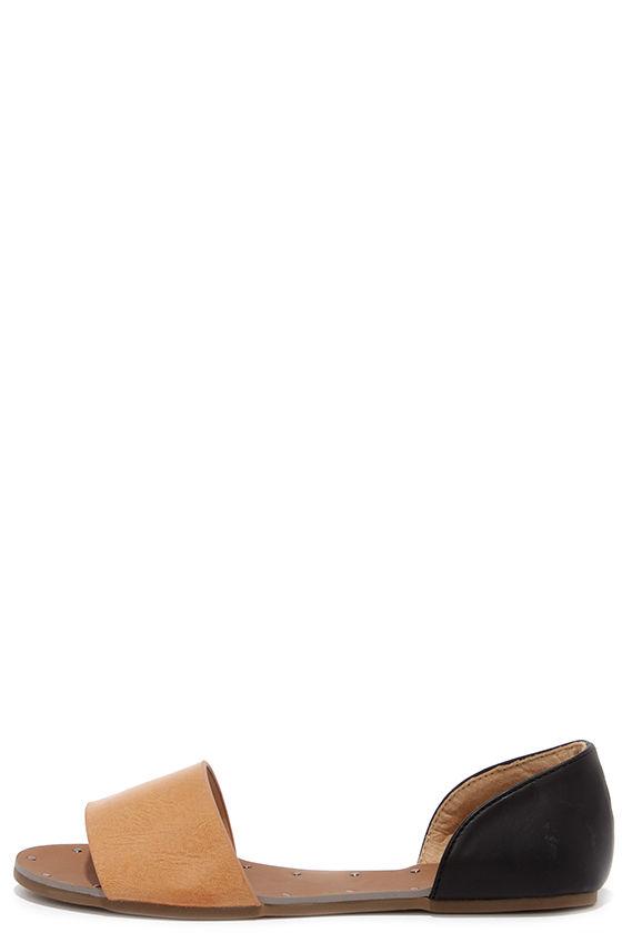 750f7dc31 Cute Camel Flats - Peep Toe Flats -  23.00