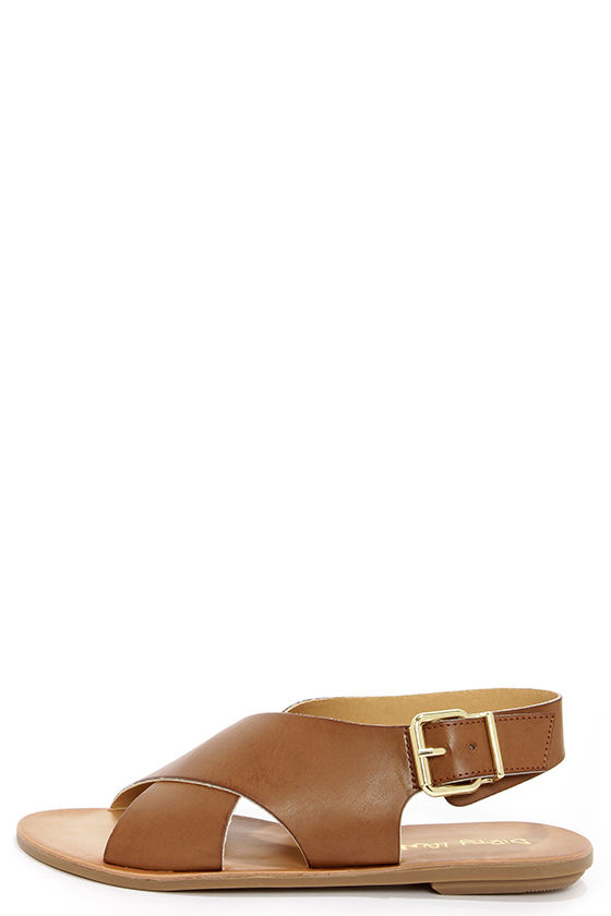 Dirty Laundry Beatbox Sugar Brown Crisscross Sandals at Lulus.com!