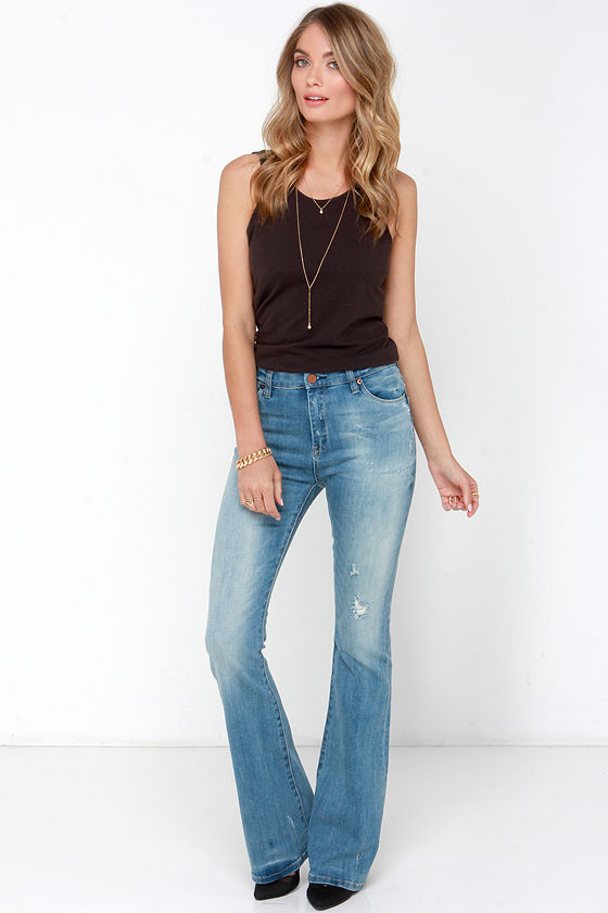 Blank NYC Kale Yeah Jeans - Flare Jeans - Distressed Jeans - $91.00