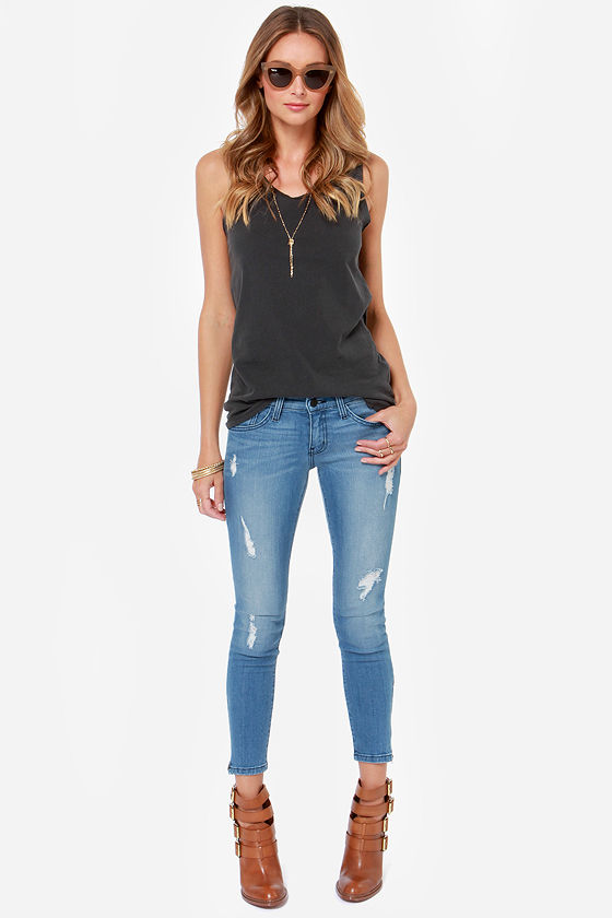 Flying Monkey Jeans - Cropped Jeans - Skinny Jeans - $69.00