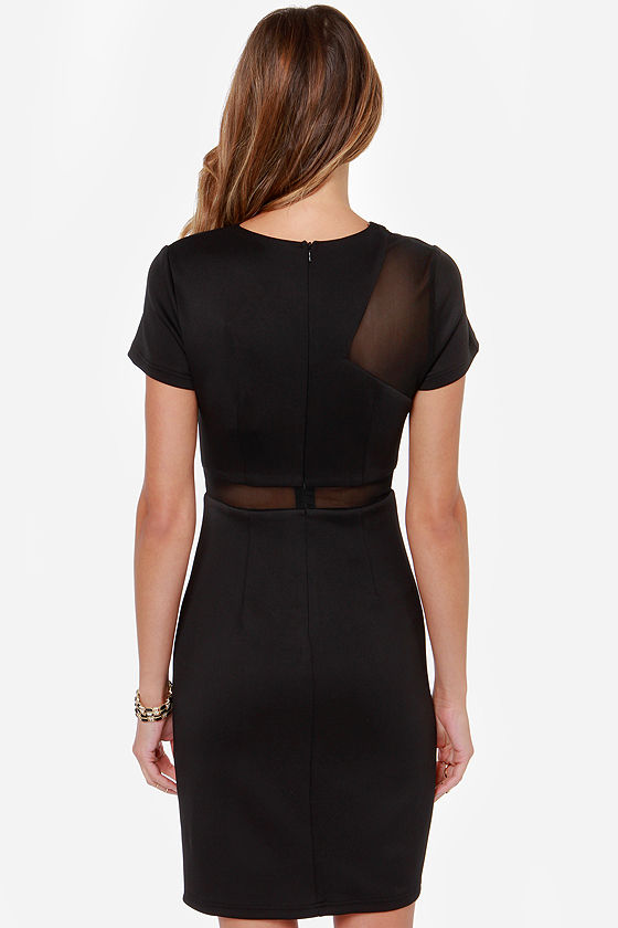 Aryn K Make a Scene Cutout Black Dress at Lulus.com!