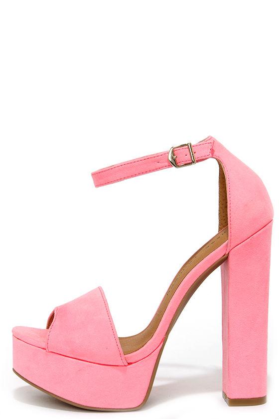 Cute Pink Heels - Platform heels - Platform Pumps - $69.00