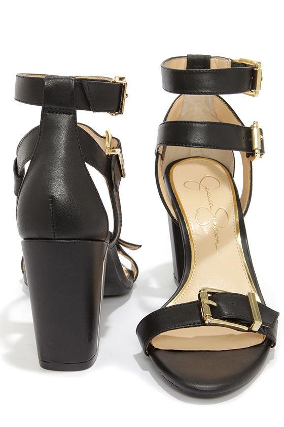 485776eb15a Cute Ankle Strap Heels - Black Heels - Dress Sandals -  89.00