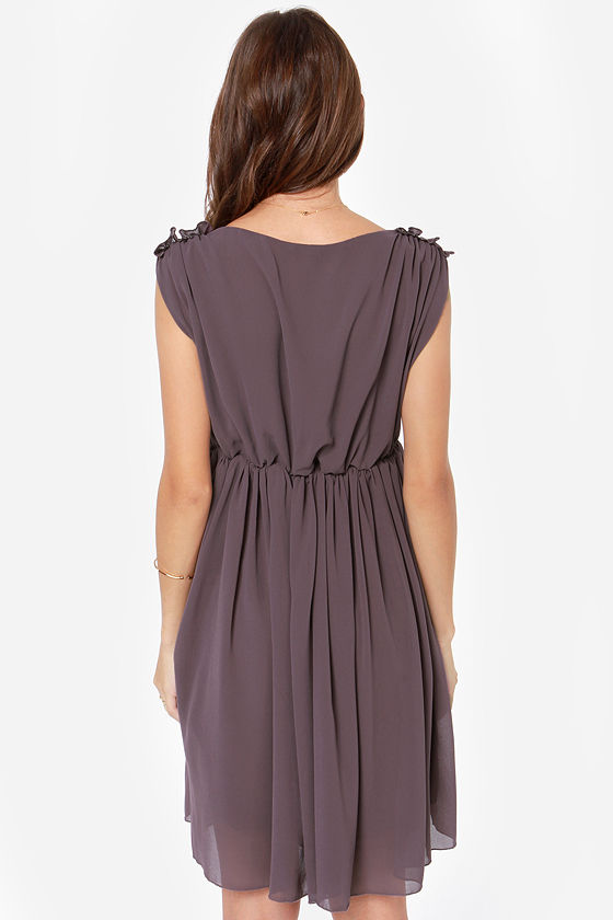 Ballet It on Thick Dark Purple Dress at Lulus.com!