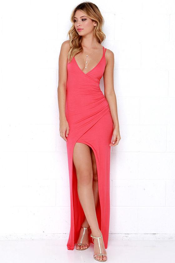 e9f21923493 Sexy Coral Dress - Maxi Dress - Strappy Dress -  54.00