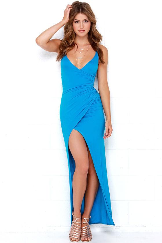 Sexy Blue Dress - Maxi Dress - Strappy Dress - 5400-9228