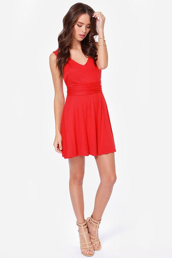 LULUS Exclusive World Go 'Round Red Dress