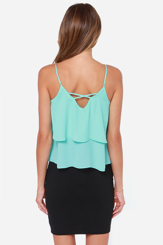 Adjust in Case Aqua Blue Tank Top at Lulus.com!