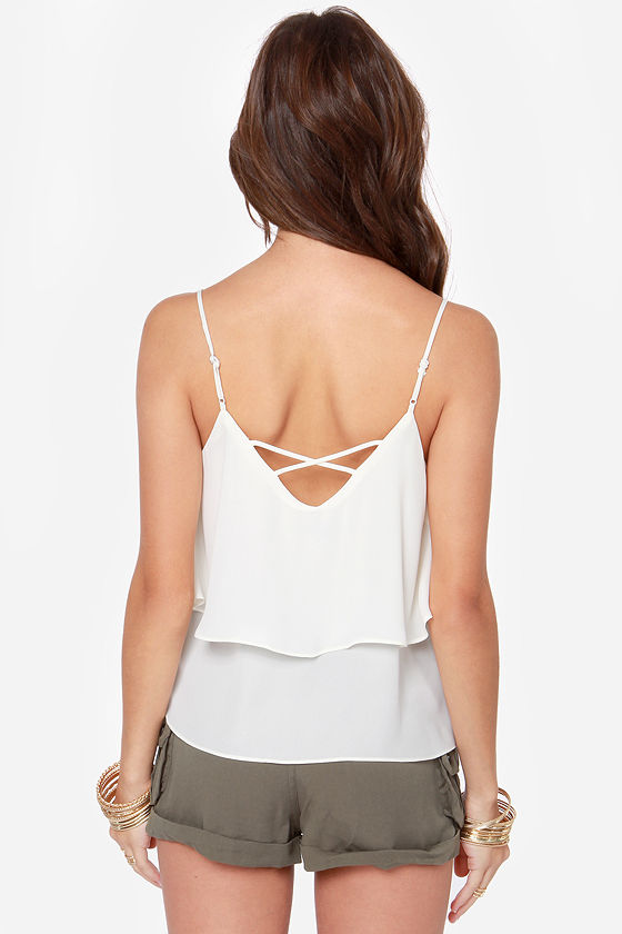 Adjust in Case Ivory Tank Top at Lulus.com!