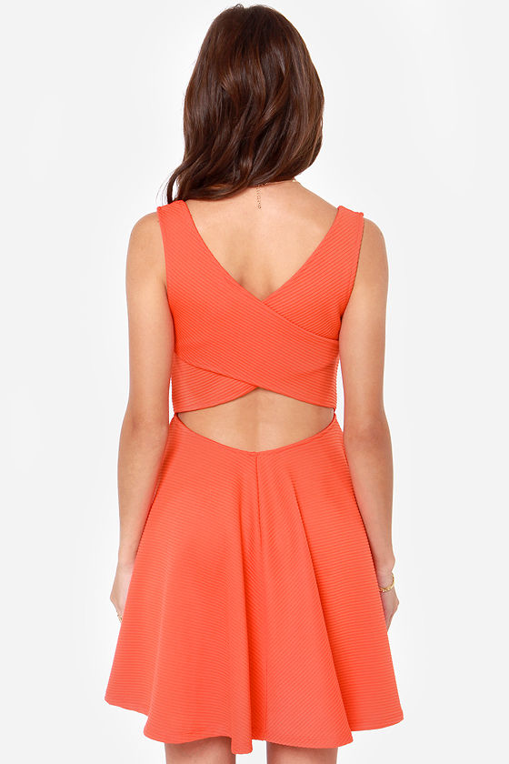 Others Follow Grainline Red Orange Dress at Lulus.com!