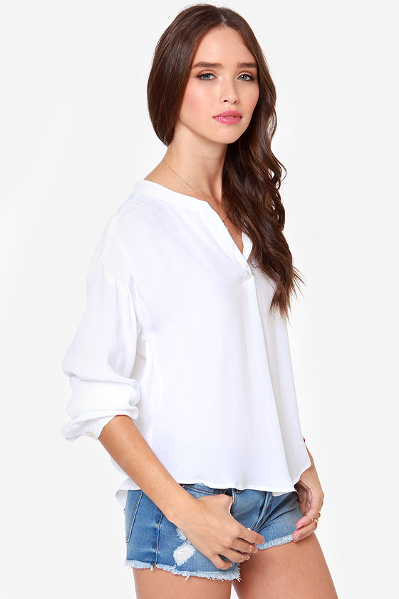 Lucy Love Pickadilly White Top at Lulus.com!