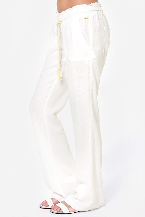 Roxy Oceanside Ivory Pants at Lulus.com!