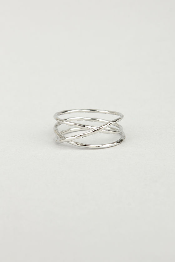 Sealed With a Twist Silver Ring at Lulus.com!