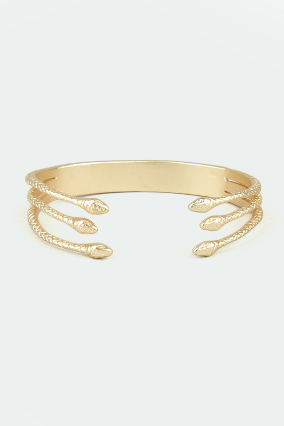 Madam and Serpent Gold Snake Bracelet at Lulus.com!