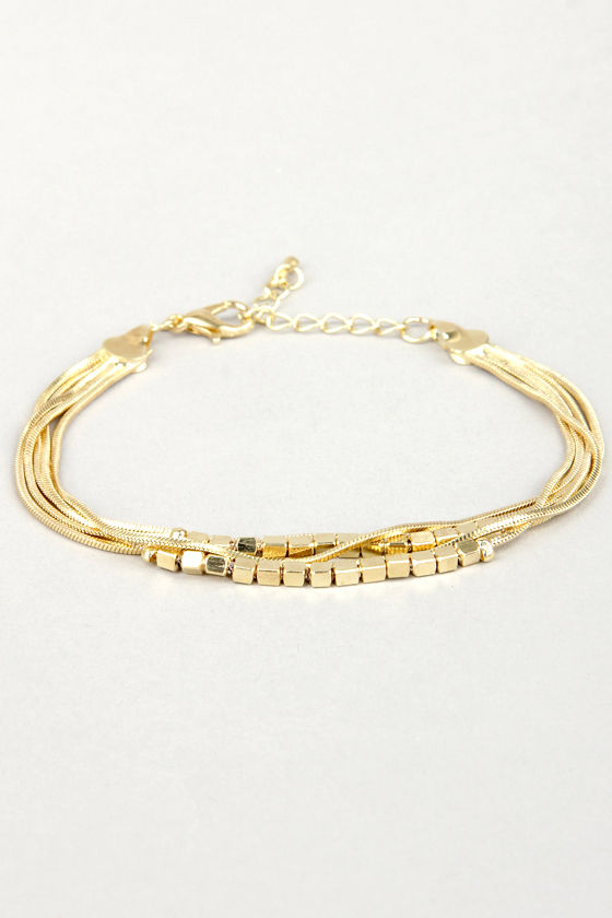 Stranded Together Gold Bracelet at Lulus.com!