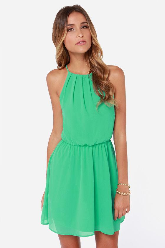 Cute Green Dress - Sleeveless Dress -  34.00 d9520d350