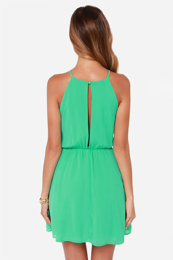 Up to Something Green Dress at Lulus.com!