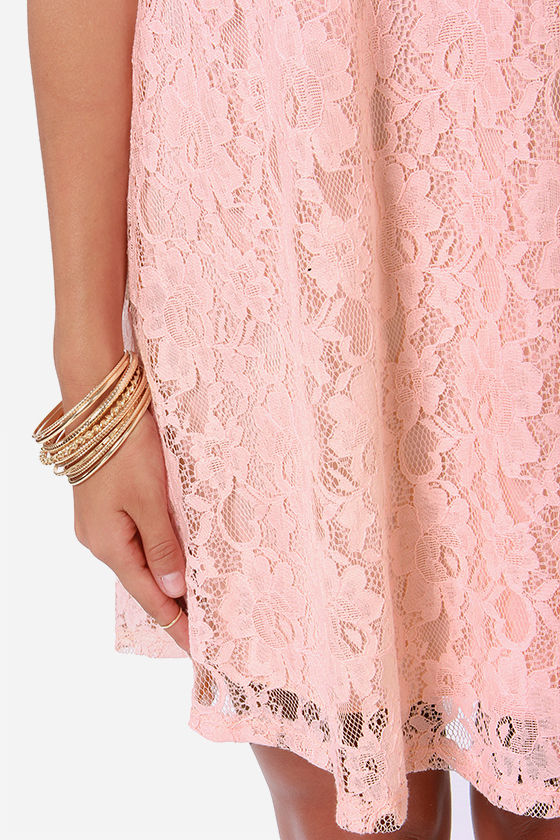 Full of Grace Pink Lace Dress at Lulus.com!