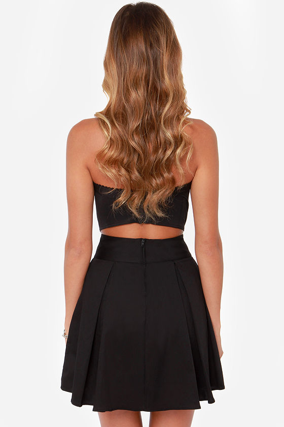 Automatic Awesome Pleated Black Skirt at Lulus.com!