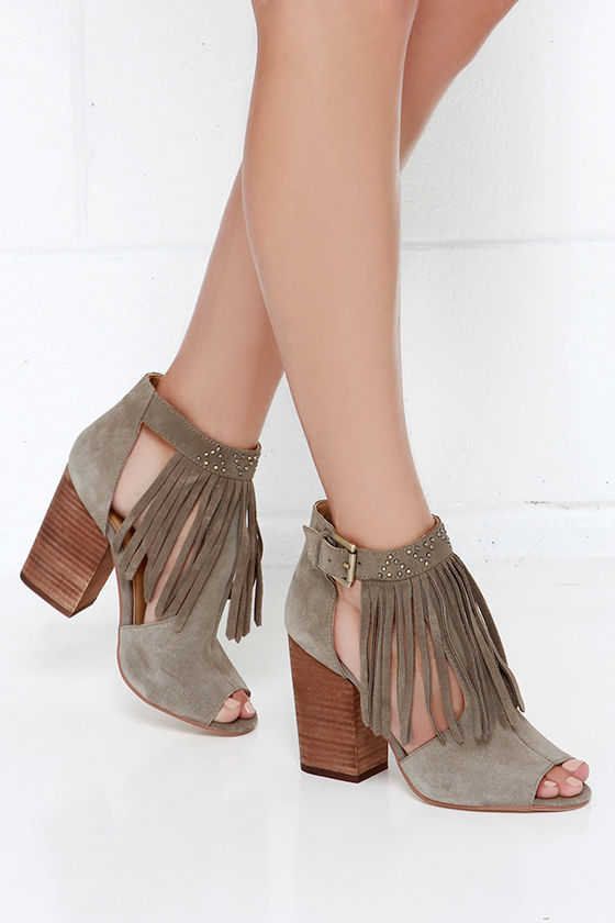 bab44415c0 Chinese Laundry Boho - Grey Booties - Cutout Booties - $109.00