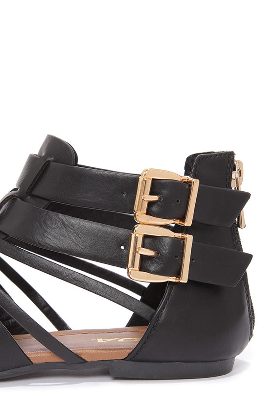 Soda Gatlin Black Gladiator Sandals at Lulus.com!