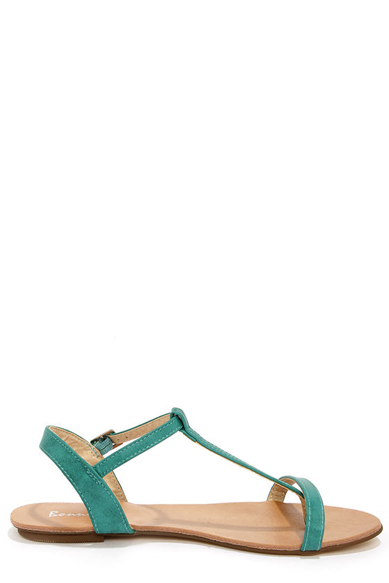 Maya 1 Sea Green T Strap Thong Sandals at Lulus.com!